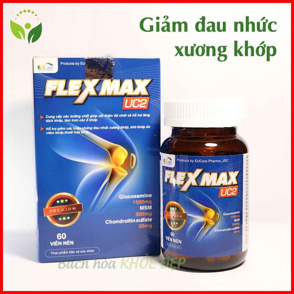 Hộp 60 Viên Uống Bổ Xương Khớp Glucosamine 1500mg Flexmax giảm đau xương khớp - Chuẩn GMP Bộ Y Tế