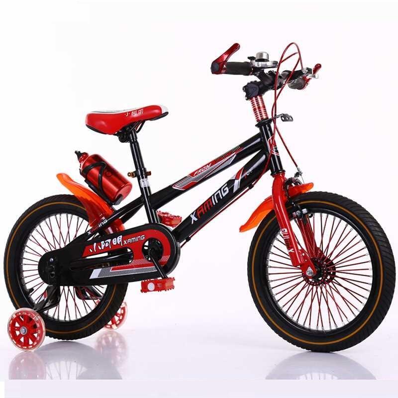 Mua Xe đạp thể thao Size 16/18 Inch có bánh phụ dành cho trẻ em từ 4-10 tuổi (Đỏ, Xanh)