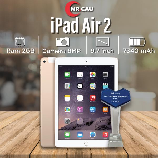 (VOCHER 300K 17-23/07) Máy tính bảng Apple IPAD AIR 2  (Bản WIFI)  (64GB- 16GB ) [Trả góp 0%] Máy Zin Ram 2G Chip A8X mạnh mẽ Màn Hình 9.7 inch full HD Cảm biến vân tay MR CAU