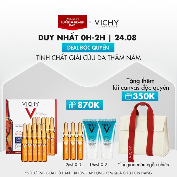 [Chỉ 24/8 - 5000 quà độc quyền] Tinh chất giảm thâm nám và dưỡng sáng da với Vitamin Cg và AHA Vichy Liftactiv Specialist Glyco-C Ampoule