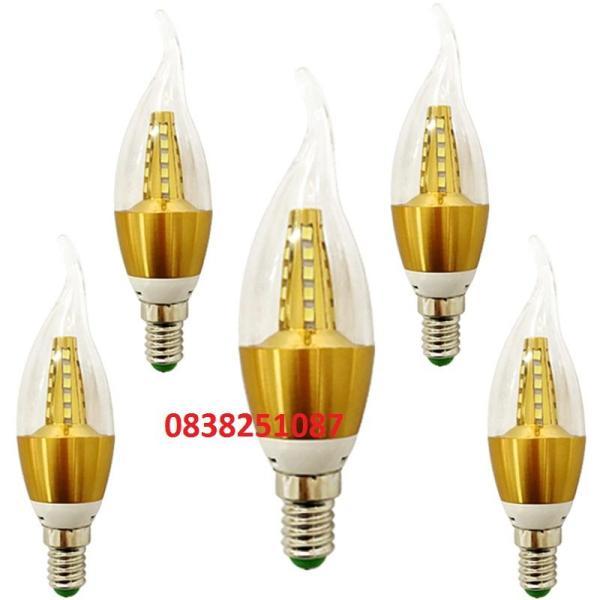 [HCM]Bộ 5 bóng đèn LED nến đuôi E14