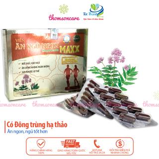 Ăn ngủ ngon Happy Health Max - Giúp giảm mất ngủ, ăn ngon, hộp 60v từ đông trùng hạ thảo, melatonin, sữa ong chúa Hộp 60 viên nang thumbnail