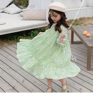 Đầm Công Chúa Hoa Cho Bé Gái Gấu Leader Đầm Hoa Nhún Bèo Thời Trang Mới Cho Trẻ Em Trang Phục Ngọt Ngào Mùa Xuân Cho Trẻ Em, 3-7 Năm