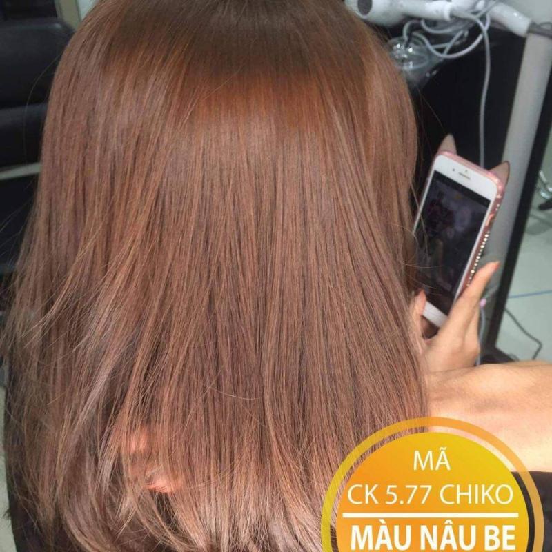 Thuốc nhuộm màu Nâu Be (không tẩy tóc) (kèm trợ nhuộm và găng tay) cao cấp
