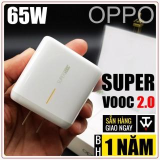 Bộ Sạc Cáp 65W SUPER VOOC 2.0 Oppo Find X2 Chính Hãng Bảo Hành 12 Tháng [Sạc Siêu Nhanh 65W] thumbnail