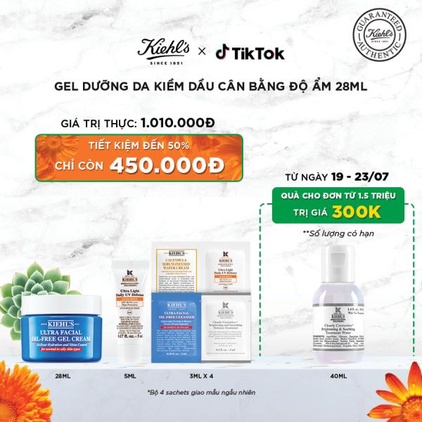Gel dưỡng ẩm kiềm dầu Kiehls Ultra Facial Oil-Free Gel Cream 28ml [TIKTOK] giá rẻ