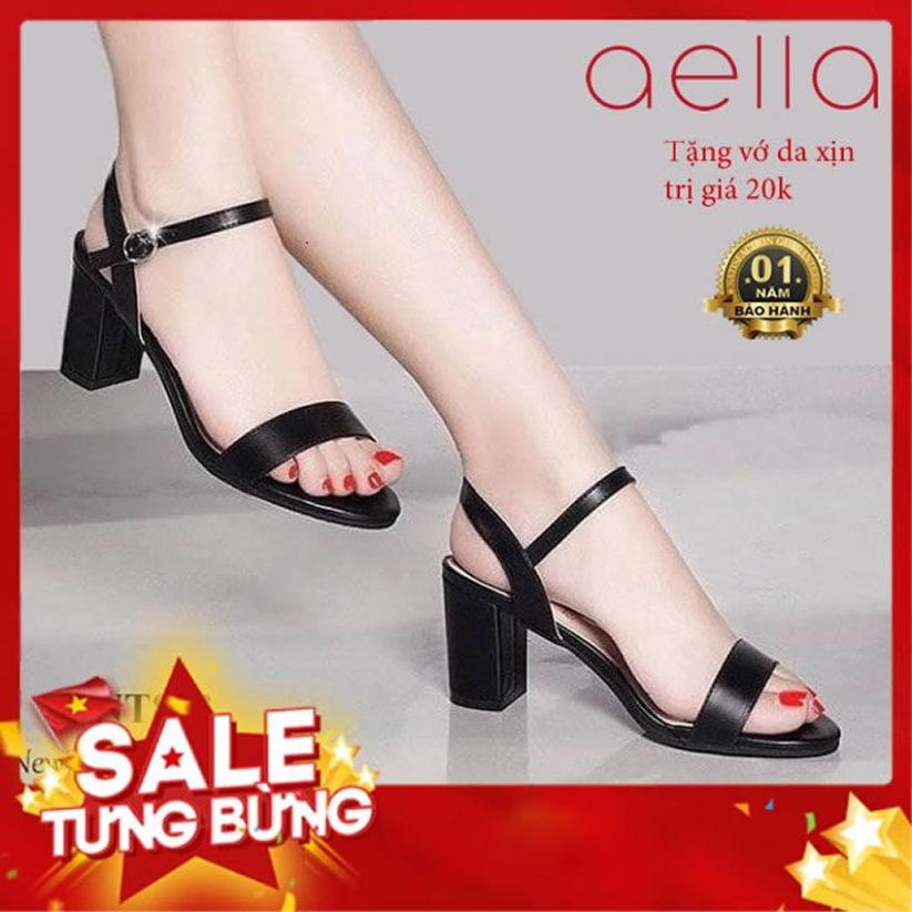 Giày cao gót nữ 5cm hậu C AELLA205 - Quí phái , êm ái - Giày nữ cao gót 2020 giá rẻ