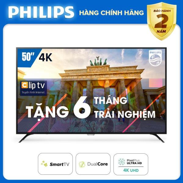Bảng giá PRESALE SMART TIVI 4K UHD 50 INCH KẾT NỐI INTERNET WIFI - hàng Thái Lan - Free 6 tháng xem phim Clip TV - Bảo hành 2 năm tại nhà - 50PUT6023S/74 Tivi Philips