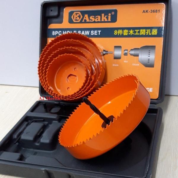Bộ công cụ khoét lỗ gỗ và thạch cao 8 chi tiết AK-3681