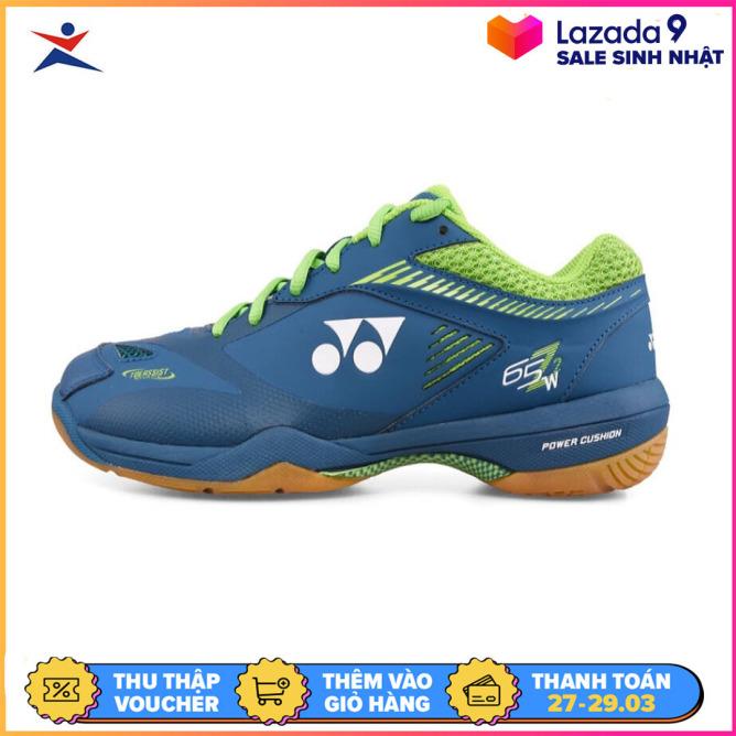 Giày cầu lông Yonex chuyên nghiệp  dành cho nam và nữ, màu đen viền xanh- GIày đánh bóng chuyền - Giầy thể thao cầu lông giá rẻ