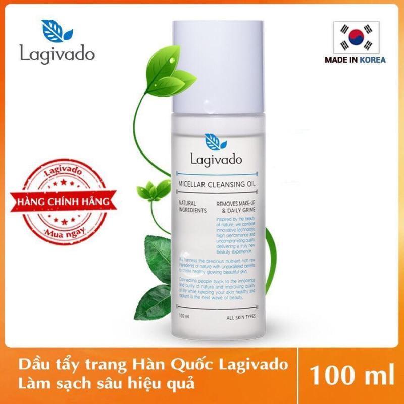 Dầu Tẩy trang làm sạch sâu 3 trong 1 Hàn Quốc Lagivado Micellar Cleansing Oil 100 ml – Màu Trắng tốt nhất