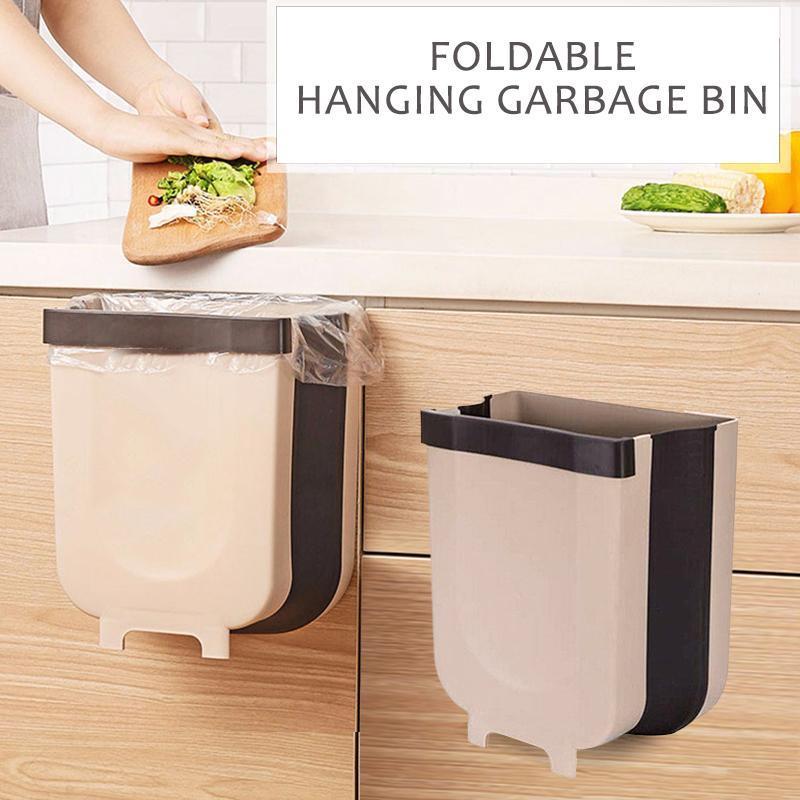 Hộp đụng rác gấp gọn-Giỏ đựng rác treo tủ bêp tiện lợi gọn gàng vệ sinh ngăn nắp