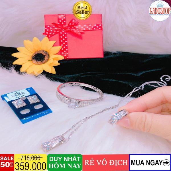 [GIẢM GIÁ CỰC SỐC] Bộ trang sức bạch kim Gadoshop KB403101910 - đeo đi đám cưới vô cùng quý phái