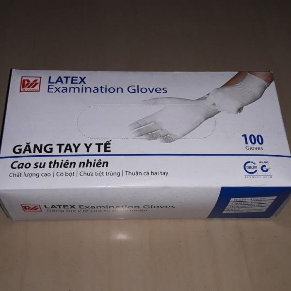 Găng tay y tế Duy Hàng latex có bột hộp 100 cái