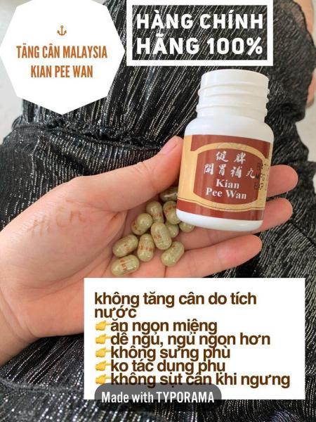 Tăng cân Kian.Pee.Wan - Kiện tỳ khai vị - Tăng cân Malaysia cam kết tăng cân sau 1 tuần , giúp ăn ngon ngủ ngon nhập khẩu