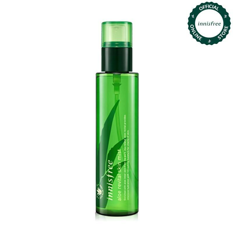 Xịt khoáng dưỡng ẩm từ nha đam Innisfree Aloe Revital Skin Mist 120ml cao cấp