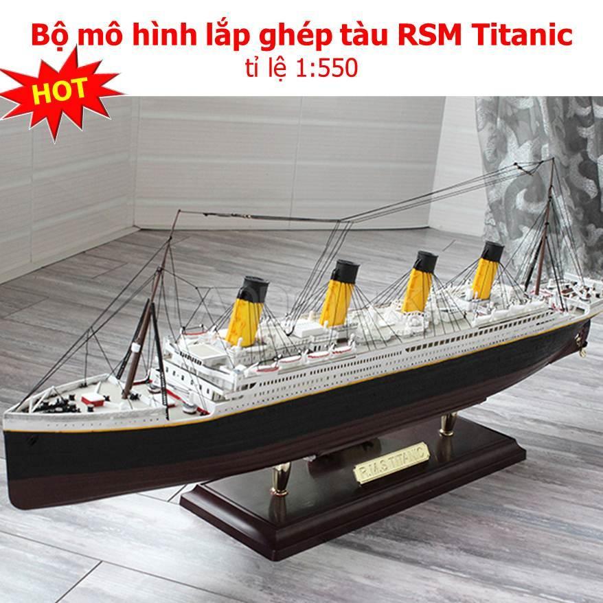 Giá Cực Tốt Khi Mua Đồ Chơi Trẻ Em, Bộ Mô Hình Lắp Ghép Tàu RSM Titanic. Mô Hình Lắp Ghép Tàu Chất Lượng Cao , Bộ Mô Hình Lắp Ghép Tàu RSM Titanic Tỉ Lệ 1:550 Cao Cấp.