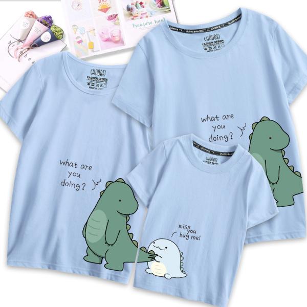 HOT!!! áo thun gia đình, đồ gia đình, quần áo gia đình khủng long cực đẹp