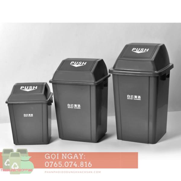 Thùng rác nhựa nắp lật Baiyun 25L (34x28x44cm)