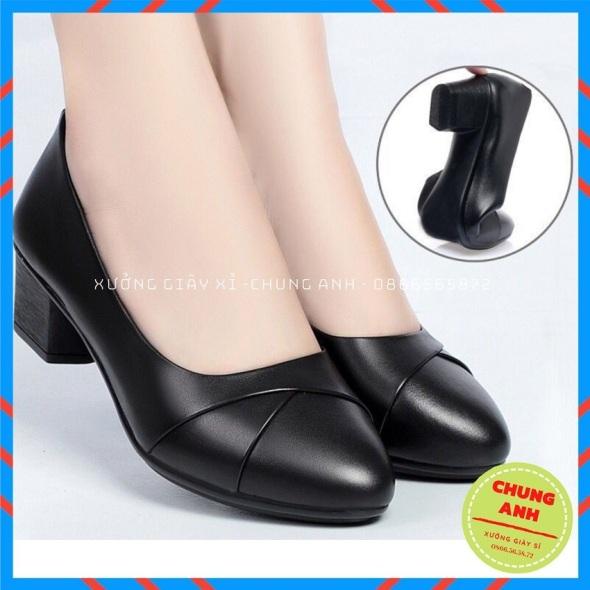 Giày búp bê - giày búp bê nữ công sở - Hàng VNXK đế cao su đúc 4 phân da mềm giá rẻ