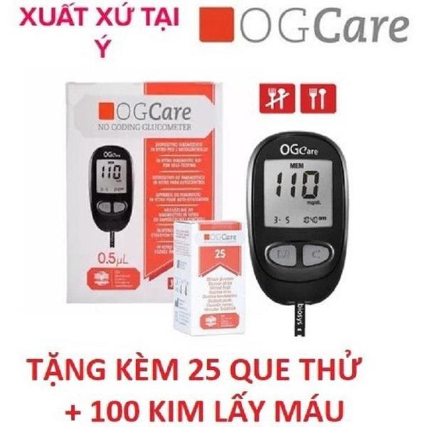 Máy đo đường huyết OG Care TẶNG KÈM 25 Que Thử