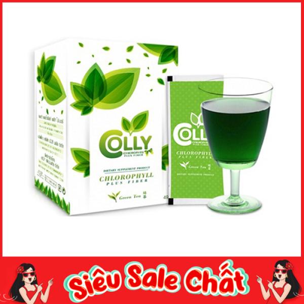 Trà xanh thảo dược ġiảm câņ Colly Chlorophyll Plus Fiber nhập khẩu