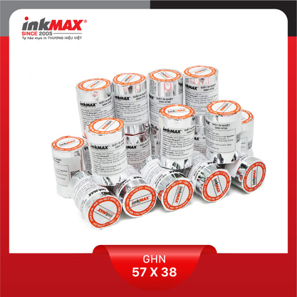 Mua ( Combo 50 cuộn ) Giấy in nhiệt K57x38 - Giấy in BILL - Giấy in hóa đơn - Hàng chính hãng inkMAX
