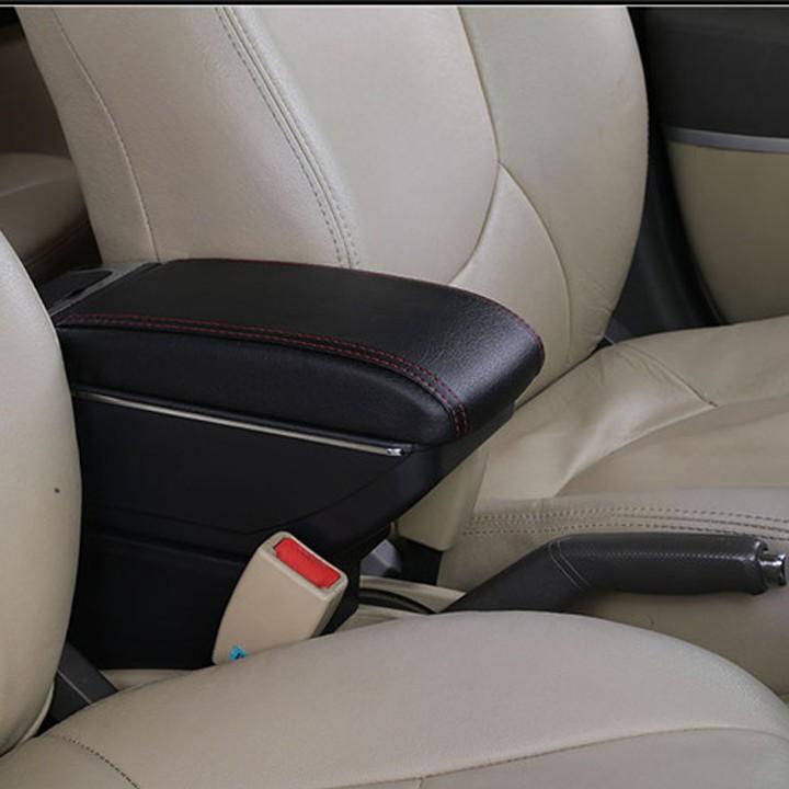 Hộp Tỳ Tay Theo Xe Hyundai Grand I10 2014-2019 Có 2 Ngăn Và 7 Cổng Cắm USB Giá Rất Tiết Kiệm