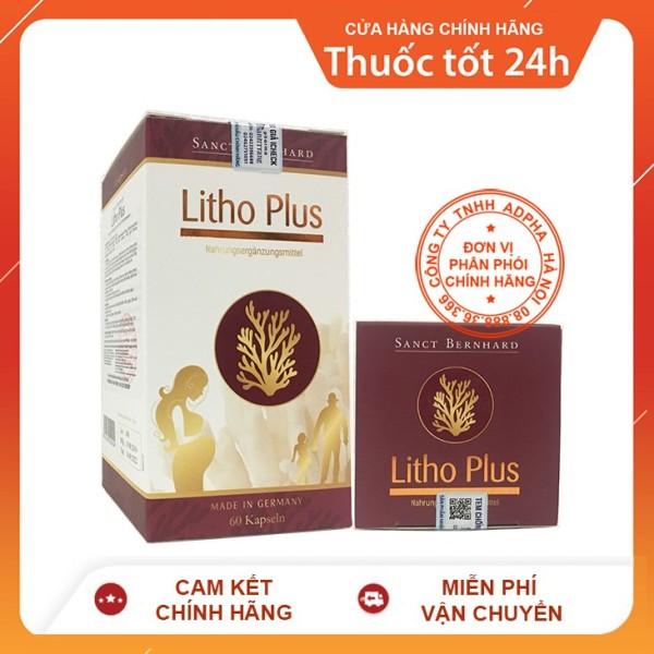[Lấy mã giảm thêm 30%] Litho Plus 60 viên - Viên bổ sung canxi nhập khẩu Đức giá rẻ