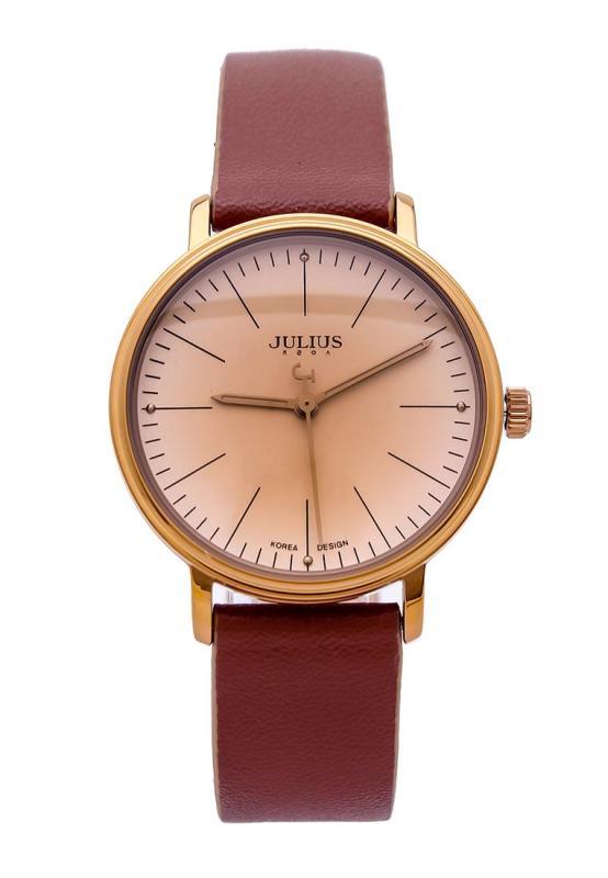Sale Off đồng hồ nữ Julius Hàn Quốc JA-814 cổ điển dây da (Nâu)