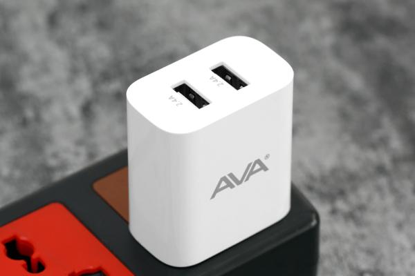 Bảng giá Adapter sạc 2.4A Dual AVA JC78 Trắng Phong Vũ