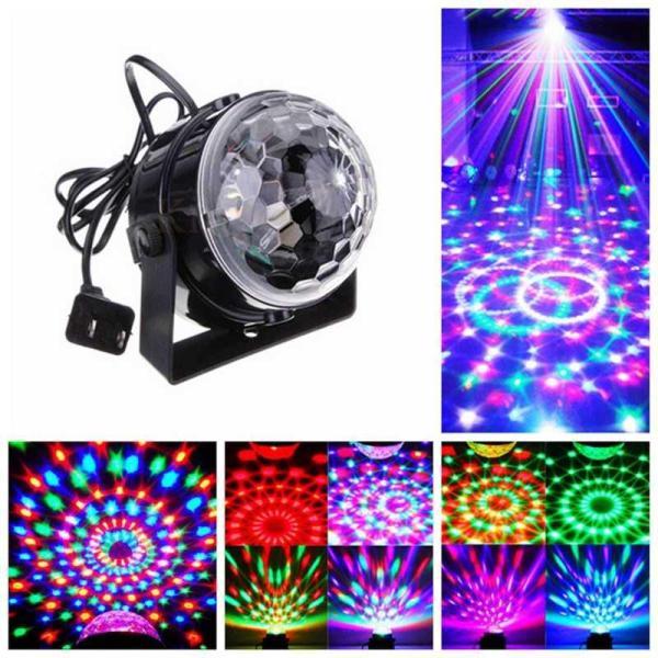 Bóng Đèn trụ xoay mini, Đèn cảm ứng nhạc, Đèn Led xoay, Đèn Led karaoke, Đèn Led vũ trường, Đèn cảm ứng âm thanh, Đèn chớp 7 màu, Đèn trang trí (N007)