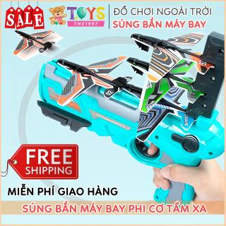Đồ chơi bắn máy bay cho trẻ em, đồ chơi phóng máy bay uốn lượn ngoài trời tăng khả năng vận động thumbnail
