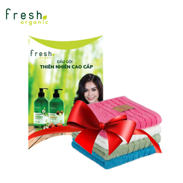 [Hàng Tặng Không Bán] Bộ sản phẩm Travel Kit Fresh Organic & Khăn Lau Hàn Quốc giá rẻ