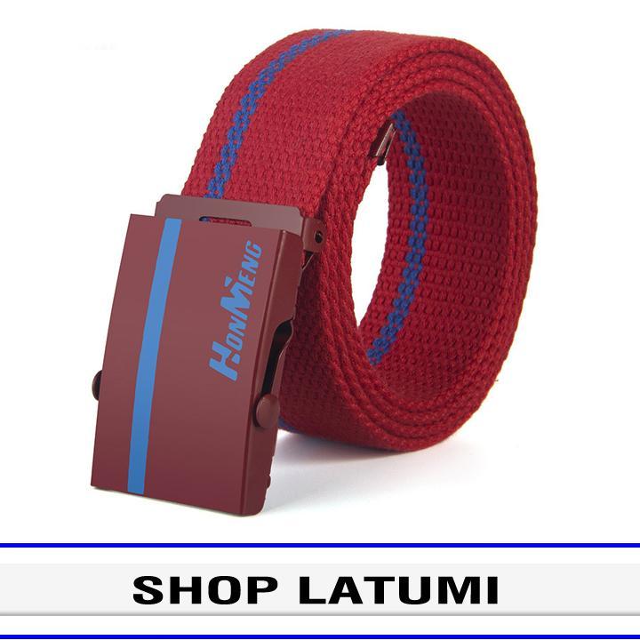Thắt lưng vải bố khóa bằng kim loại Latumi S2181 (Nhiều màu lựa chọn) Nhật Bản