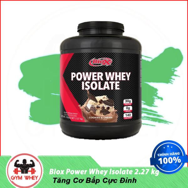 Sữa Dinh Dưỡng Tăng Cơ Bắp Cực Đỉnh BIOX POWER WHEY ISOLATE 2.27KG