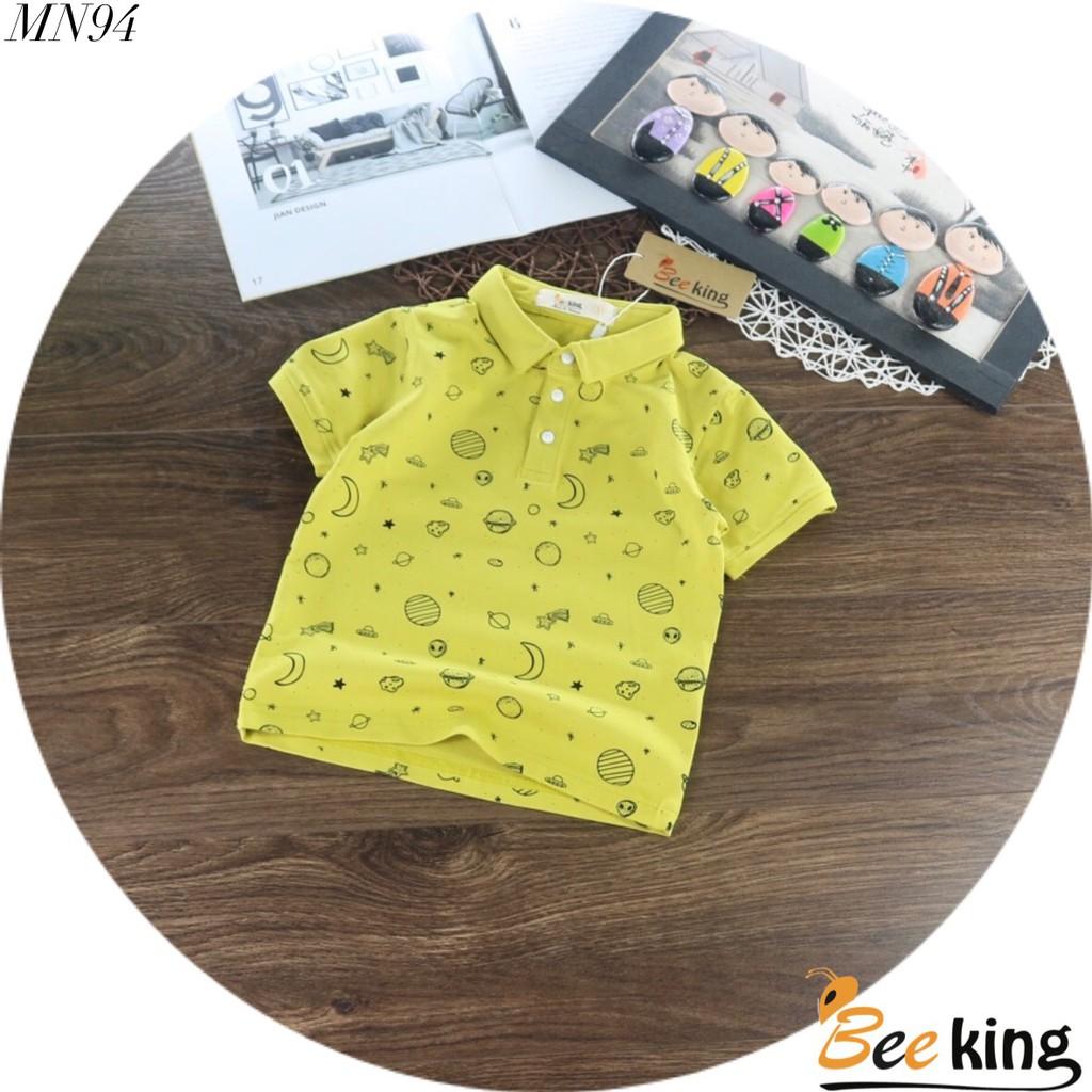 Áo thun cổ trụ cho bé trai size 8-30kg chất cotton 4 chiều mềm mịn mát