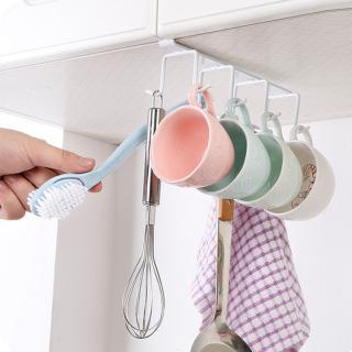Giá đỡ treo phần đáy bằng sắt cho tủ nhà bếp, móc treo quần áo không đinh cho tủ quần áo, giá đỡ để đồ móc chịu lực và lưu trữ theo dạng sáng tạo thumbnail