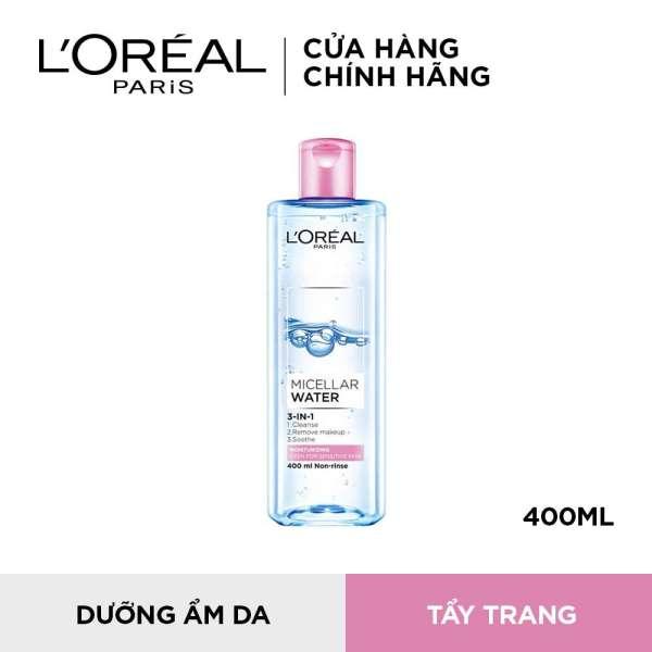 Nước tẩy trang dưỡng ẩm cho da nhạy cảm LOreal Paris Micellar Water 400ml (màu hồng) cao cấp