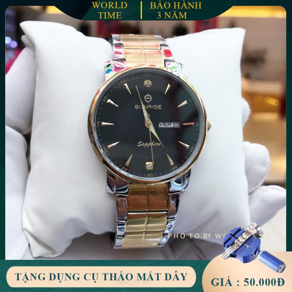 Đồng Hồ Nam Sunrise DM747SWC Full box, Thẻ BH 03 năm, Kính Sapphire Chống xước, Chống nước