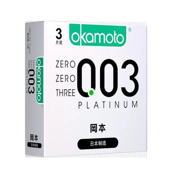 Bao Cao Su 0.03 Platium - Hộp 3 Cái