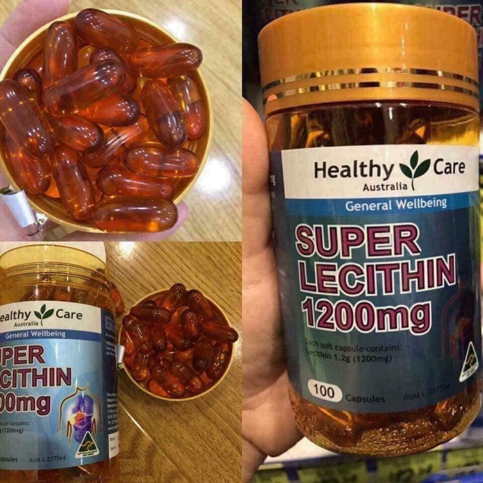 Viên Uống Mầm Đậu Nành Super Lecithin 1200mg Healthy Care 100 Viên Úc Tăng cường nội tiết tố nữ