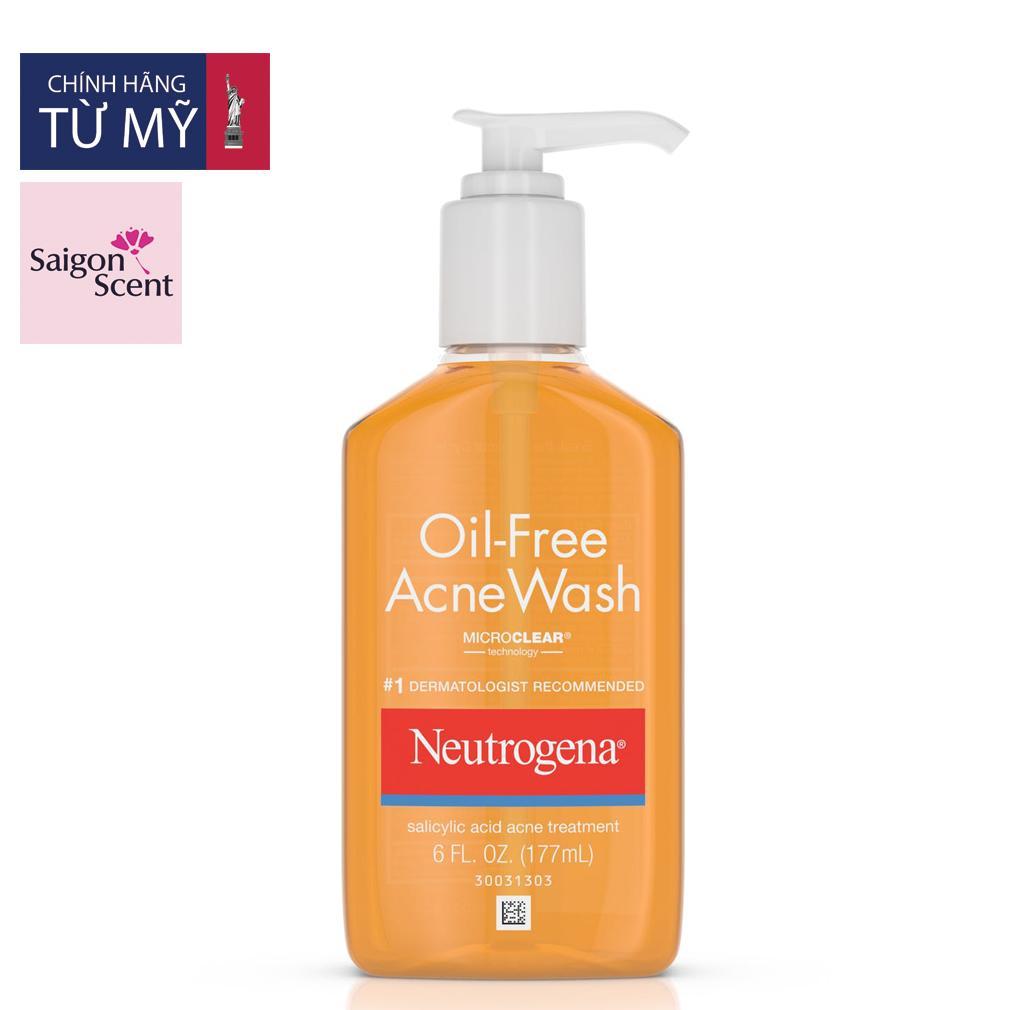 Sữa rửa mặt Neutrogena Oil Free Acne Wash (177ml)
