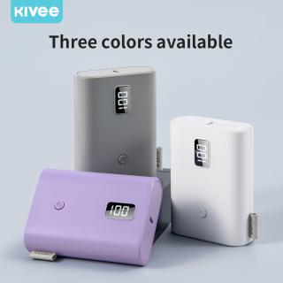 Sạc dự phòng KIVEE 10000Mah, có đèn LED kỹ thuật số, dung lượng siêu lớn iPhone11 iPhone12 HUAWEI OPPO ViVo(PT58P) thumbnail