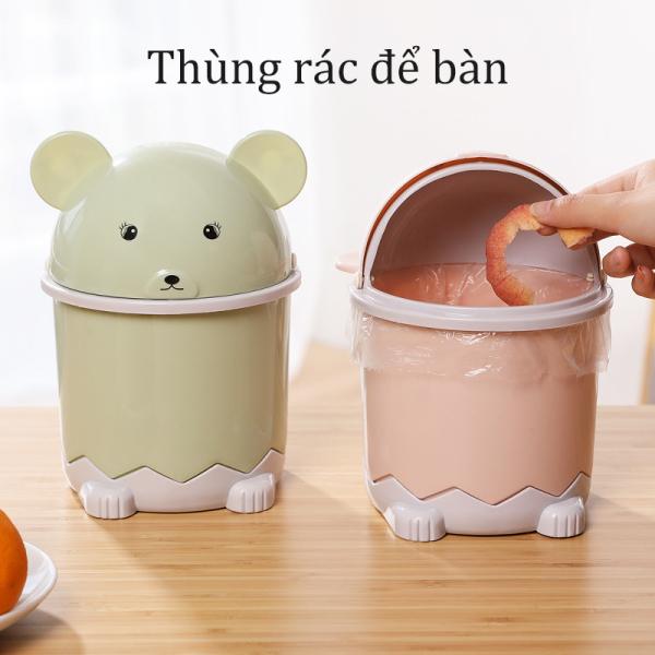 【like】Thùng rác nhỏ, thùng rác để bàn có nắp, thùng rác, phòng khách sáng tạo bàn cà phê giỏ giấy nhỏ