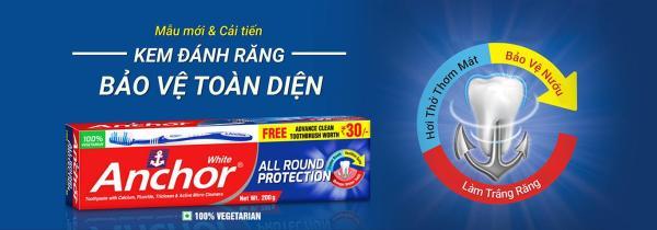 Kem đánh răng Bảo vệ toàn diện Anchor All Round Protection 200g (Tặng kèm bàn chải)