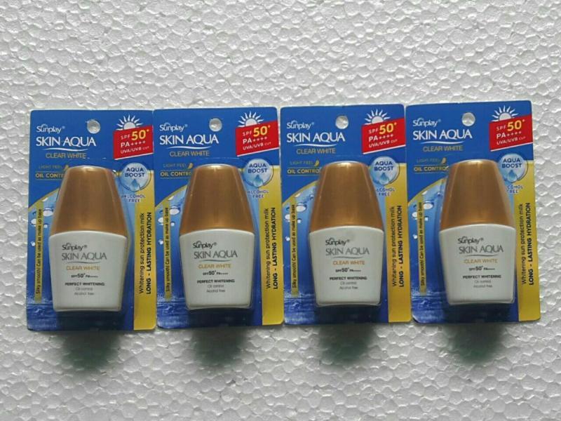 (MẪU DÙNG THỬ ) Combo 5 kem chống nắng Sunplay 5g (màu trắng) nhập khẩu
