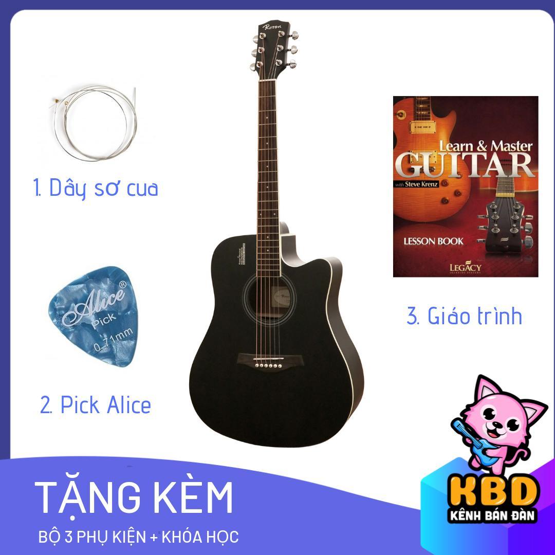 [TẶNG KÈM KHÓA HỌC] Đàn Guitar Acoustic ROSEN tặng kèm pick gảy, dây sơ cua , giáo trình