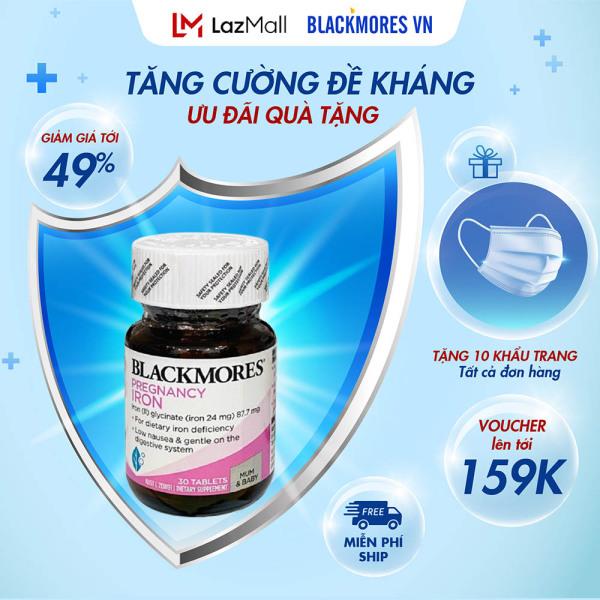 Blackmores Pregnancy Iron 30v Viên Sắt Cho Bà Bầu Blackmore Úc nhập khẩu