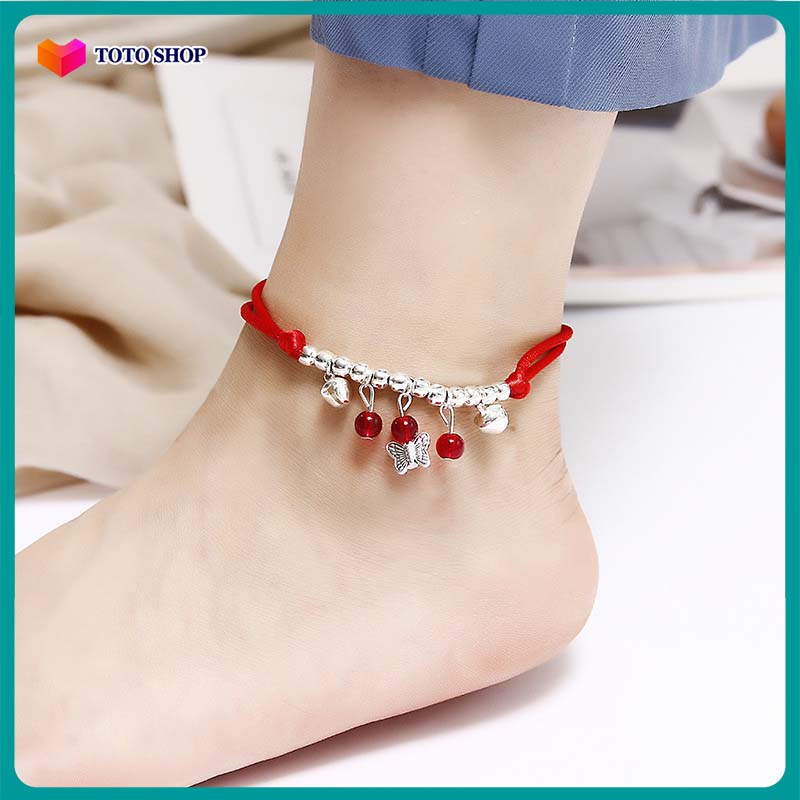 [HCM][01 chiếc tùy chọn mẫu] Lắc chân đỏ may mắn KÍCH CỠ CÓ THỂ ĐIỀU CHỈNH kiểu dáng thời trang hai lớp mẫu bán chạy họa tiết ngôi sao phong cách Hàn Quốc BSTVT - [ToToShop]